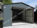 Grafit - RAL 7016 garaż blaszany 4x6