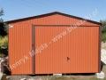 Cegła garaż w kolorze RAL 8004 o wymiarach 4x6
