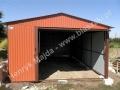 Cegła - jasnobrązowy RAL 8004 garaż blaszak