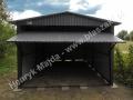 Ciemny szary garaż 3x5 dwuspad matowy BTX 2610