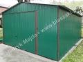 Dwuspadowy zielony blaszak 4m x 6m