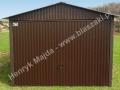 Dwuspadowy garaż 3mx5m, wzmacniana konstrukcja, RAL 8017