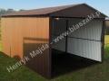 Dwuspadowy garaż blaszak 3x5 wzmacniany profilem zamkniętym