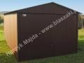 Dwuspadowy garaż blaszany 3x5, brązowy, RAL 8017