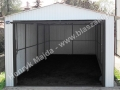 Dwuspad biały, wzmocniona konstrukcja garażu 3.5x6