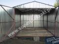 dwuspadowy garaz blaszany 3x5