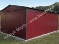 Dwuspadowy garaż blaszany 4x6