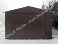 Garaż blaszany 4x6, dwuspad RAL 8017