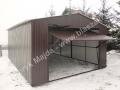 Garaż blaszany RAL 8017, wymiary 4mx6m