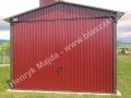 Garaż wiśniowy front 3x5, RAL 3005
