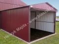 Garaż wiśniowy z dachem dwuspadowym 3m x 5m