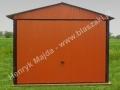 Jasny brąz - RAL 8004, garaż 3x5 dwuspad z bramą uchylną