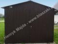 Czarny matowy blaszak dwuspad, brama otwierana na boki, BTX 7700