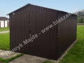 Czarny mat, garaż blaszany 3x5