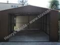 Obszerny garaż 4x6 brązowy