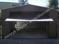 Obszerny garaż blaszany, blacha powlekana RAL 8017