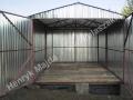 Dwuspadowy garaż blaszany 3x5