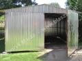Garaż blaszak 3.5x5 dwuspad, brama dwuskrzydłowa