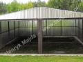 HM - podwójny garaż blaszak z dachem dwuspadowym 6x5