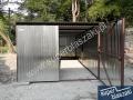 garaż blaszany 3x5 wzmacniany profil blachy