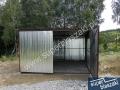 garaż blaszany 3x5.5 brama dwuskrzydłowa
