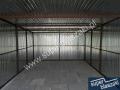 garaż blaszany 3x5.5 konstrukcja wzmacniana profilem zamkniętym