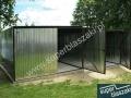 garaże blaszane 4x5 i 3x5 asymetryczna brama