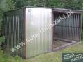 Garaż 5x5 ocynk ogniowy dodatkowe wejście z boku