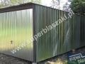 Garaż 3m x 6m z bramą uchylną, ocynkowany