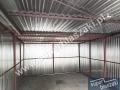 Konstrukcja garażu blaszanego ocynkowanego