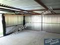 Konstrukcja ocynkowana garażu podwójnego 6x5