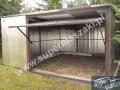 Otwarty garaż blaszak 5x5 dach ze spadem do tyłu