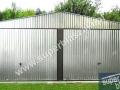 Dwuspadowy garaż podwójny z blachy ocynkowanej