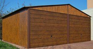 garaże blaszane drewno podobne